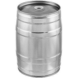 Mini Keg 5L sem torneira - Prata