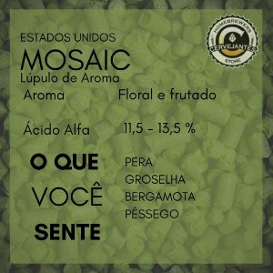 Lúpulo Mosaic - 50g
