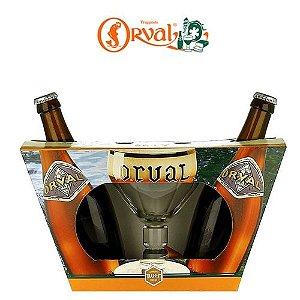Kit Cerveja Orval 330ml - 2 Garrafas + 1 copo