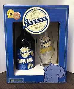 Kit Cerveja Blumenau Capivara Little IPA 500ml + Copo
