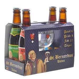 Kit Cerveja St Bernardus 4GF + 1 Taça