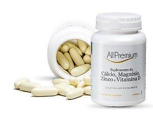 CALCIO + MAGNÉSIO + ZINCO + VITAMINA D3 - 60 CÁPSULAS ALLPREMIUM