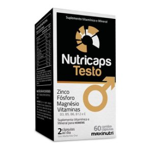 NUTRICAPS TESTO 60 CÁPSULAS MAXINUTRI