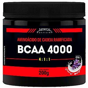 BCAA 4000 200G - SABOR UVA - NITECH NUTRITION