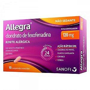 Allegra 120 mg com 10 Comprimidos