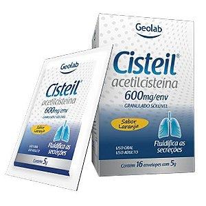 Cisteil - Acetilcisteina 600mg - 16 envelopes com 5g