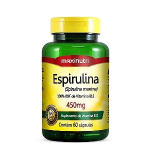 Espirulina 450mg 60 cápsulas Maxinutri