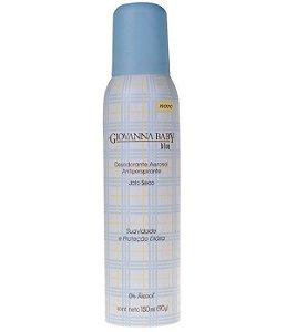 Desodorante Antitranspirante Aerosol Giovanna Baby Blue 150ml