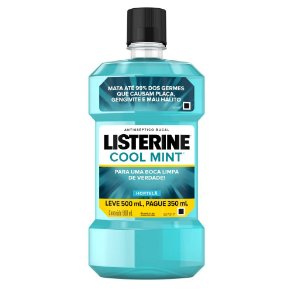 Enxaguatório Bucal Listerine Cool Mint com 500 ml