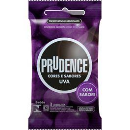 Preservativo Prudence Uva com 3 Unidades