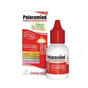 Polaramine Gotas com 20 ml