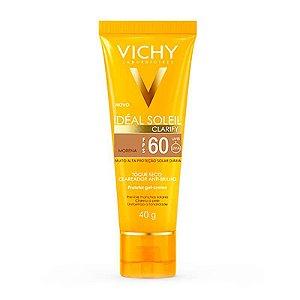 Protetor Solar Idéal Soleil Vichy Clarify FPS60 Pele Média 40g