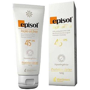 Protetor Solar Episol Loção Oil Free FPS 45 120g