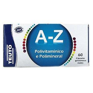 A-Z Polivitaminico + Poliminerais com 60 Cápsulas - Teuto