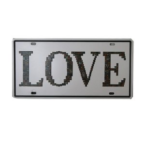 Placa Decorativa Love