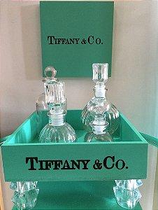 Bandeja Tiffany c/ pé acrílico