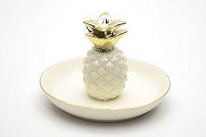 Porta anel abacaxi branco