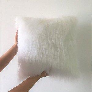 Capa de Almofada Pelúcia Branca
