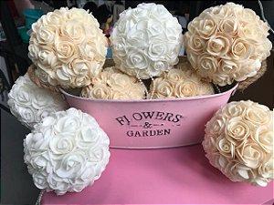 Buquê de flor de eva branco