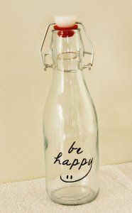 Garrafa Decorativa Be Happy