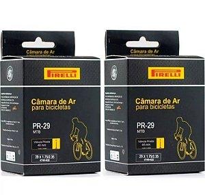 Par De Câmaras De Ar Pirelli Mtb 29er - Valvula Presta 48mm