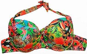 Biquini Plus Size Bojo Estampado Tropical