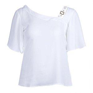 Blusa Plus Size Assimétrica