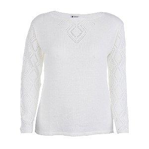 Blusa Plus Size Cristal Pérola Off-White