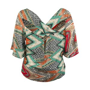 Blusa Plus Size Viscose Botões