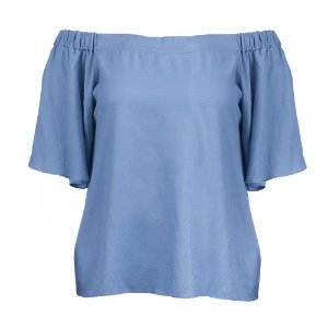 Blusa Plus Size Viscose Ombro a Ombro