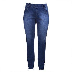 Calça Plus Size Jeans Blue Elástico