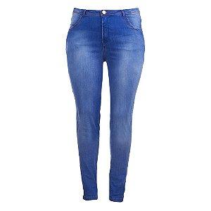 Calça Plus Size Jeans Skinny Blue
