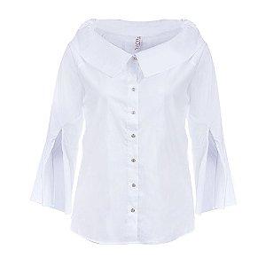 Camisa Plus Size Manga Sino Branco