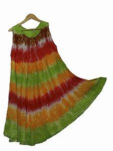 Saída de Banho Plus Size Tie Dye Listras