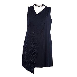 Vestido Plus Size Transpassado Assimétrico
