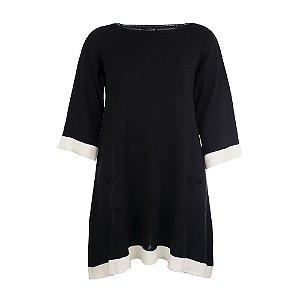 Vestido Plus Size Tricot Cafita