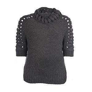 Blusa Plus Size Tricot Kalla Chumbo