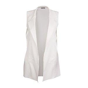 Colete Plus Size Neoprene Branco