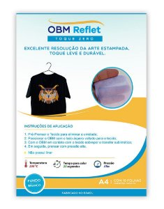 OBM Reflet Toque Zero A4 c/10 unid - Branco
