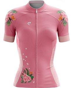 Camisa de Ciclismo - Rosa Floral