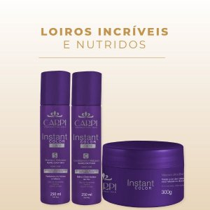 Kit Ultra Blond Instant Color - Neutralização de tonalidades amareladas dos cabelos loiros