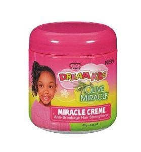 African Pride Dream Kids Olive Miracle Creme de Hidratação Anti Quebra 170g