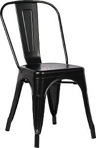 Cadeira Francesinha Iron Estilo Industrial Preta