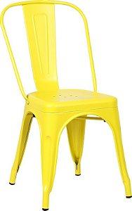 Cadeira Francesinha Iron Estilo Industrial Amarela