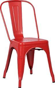 Cadeira Francesinha Iron Estilo Industrial Vermelha