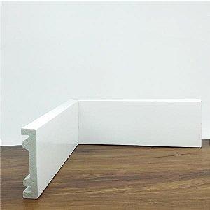 Rodapé Guarnição Liso Branco 7 Cm