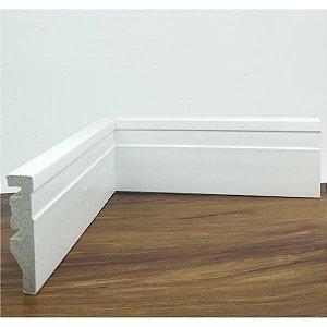 Rodapé de Poliestireno Frisado Branco 7 cm