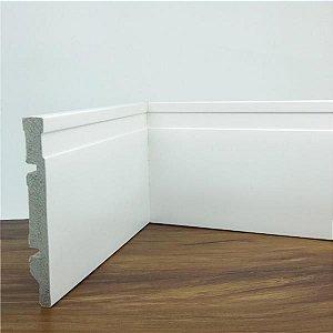 Rodapé de Poliestireno Frisado Branco 12 cm