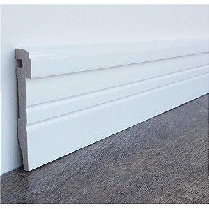 Rodapé de Poliestireno Frisado Modelo Design Branco 9,5 cm
