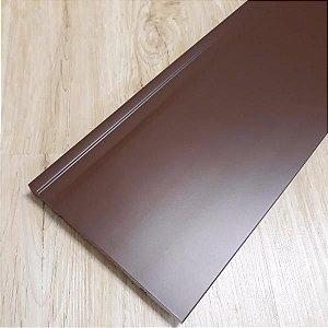 Rodapé Frisado Marrom 15 Cm
